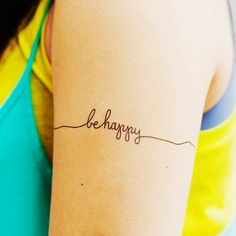 Little Arm Quote Tattoos for Girls - Charming Arm Quote Tattoos for Girls