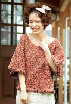 Ivelise Feito à Mão: Blusa Soltinha Em Crochê