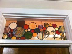 Stained Glass Window Panel / Transom with 3D house by terrazaglass, $350.00