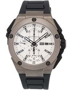 ShopWorn™ IWC Ingenieur Double Chronograph Watch, 45mm Titanium Case, Hours, Minutes, Small Seconds, Split Second (Rattrapante) Chronograph, Day and Date Windows at 3 O'clock Position, Sapphire Crystal, Solid Caseback, IWC calibre 79420, 28,800 vph, 29 Jewels, Approximate 44-Hour Power Reserve, Includes Box and Papers, Includes ShopWorn 2 Year Warranty