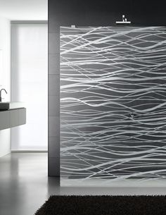 Shower-screen in transparent and satin-finish glass. Collection ...