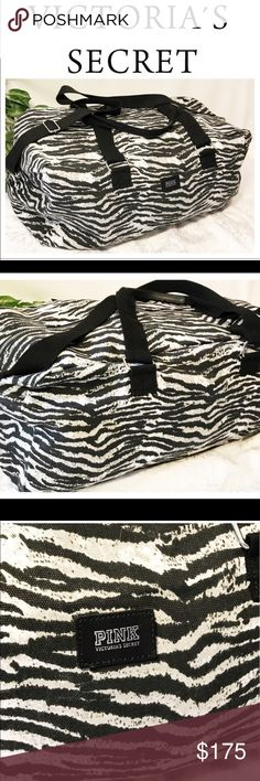 Victoria's Secret Zebra Weekender This zebra 🦓 Weekender was purchased and has never been used. These are rare and hard to find. I purchased off of ebay and haven't used it. Hoping someone can use it PINK Victoria's Secret Bags Travel Bags