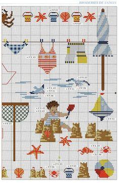 ru / Фото - 746 - cute kid w/ shovel & crab Cross Stitch Sea, Cross Stitch Numbers, Cross Stitch For Kids, Cross Stitch Designs, Cross Stitch Patterns, Cross Stitching, Cross Stitch Embroidery, Sewing Art, Needlework