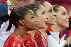 Women's gymnastics team - Gold in the Team Competition Jordyn Wieber, Gabby Douglas, Aly Raisman, McKayla Maroney, Kyla Ross