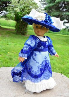 """Edwardian Titanic Downton Abbey Dress,Gown,Clothes,Oufit for 18""""American Girl -- SOLD"""
