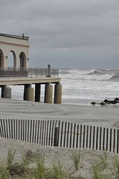I sat right there and watched the ocean waves last year, May, 2013.   Beautiful Ocean City, NJ