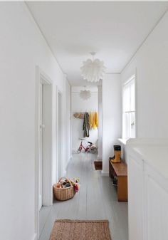 Painted white floor