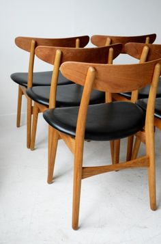 Hans J Wegner CH-30 oak dining chairs