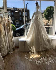 """Bridal Boutique London on Instagram: """"Six and a half weeks till we can see you in the boutique!! We literally can't wait. If you need to find your dress sooner, book us for an…"""" Mirror Mirror, Bridal Boutique, Luxury Wedding, Finding Yourself, Waiting, Book, Instagram, Dresses, Vestidos"""