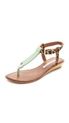 DvF Dion Demi Wedge Sandals