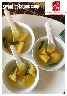Malaysian Singaporean Chinese Food–Sweet Potato Soup Dessert (番薯糖水)    #guaishushu #kenneth_goh #sweet_potatoes