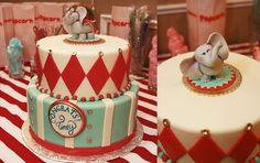 Circus Bridal Shower Cake