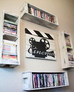 Dvd Wall Storage Ideas Elegant Creative Dvd Storage Ideas Home I Could Do This