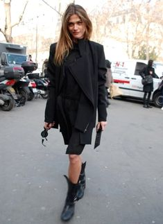 Elisa Sednaoui in a all black combo