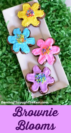 These Brownie Flower Blooms are perfect for spring, summer or when you need a little warming up during the cold months! Make these brownies with the kids or for a tea party!