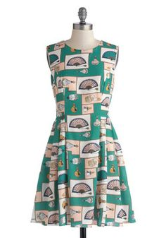 Scents of Style Dress, #ModCloth: I just love these quirky textiles some of ModCloth's dresses have!! So cute