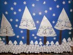 Znalezione obrazy dla zapytania zimowe zabawy prace plastyczne