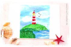 kostenlose Vorlage für diese Grusskarte - einfach ausdrucken - das Bild gibt es im kreativen Blog hier: http://kreativ-zauber.de/kostenlose-leuchtturm-karte
