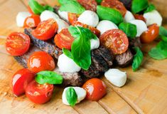 Turn ordinary grilled steak extraordinary with a simple caprese topping of tomatoes, mozzarella and fresh basil. Steak caprese will be a summer favorite!