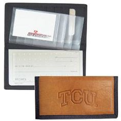 TCU Horned Frogs Leather/Nylon Embossed Checkbook Cover