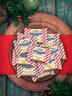 Share the joy of Peppermint Bark! | http://www.ghirardelli.com/store/shop-products/collections/peppermint-bark/milk-peppermint-bark-80-count-squares-chocolates-gift-bag.html?utm_source=Pinterest&utm_medium=Social&utm_campaign=peppermintbark