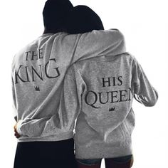 valentine shirts woman cotton king queen funny Letter Print Long Sleeve plus size T-Shirt Top Couple Shirt harajuku t shirt Moda Hipster, Style Hipster, Hipster Fashion, Look Fashion, Fashion Men, Hipster Clothing, Classy Fashion, Fashion Styles, Fashion Brand