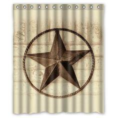 Western Texas Lone Star Cowboy Shower Curtain | Cowboys, Westerns And Texas