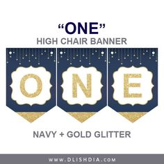 Twinkle little star bannernavy and gold bannercake smash