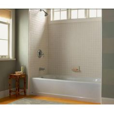 Great Left Hand Drain Bathtub In White 2392.202ICH.020   The Home Depot