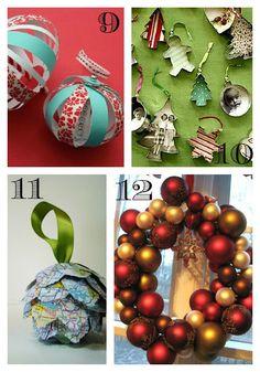 16 DIY Christmas Decor and Ornament Ideas. Lovin this website. Tons of adorable ornament ideas.