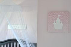 Darling canvas wall art from @homeworksetc in this pink princess room!