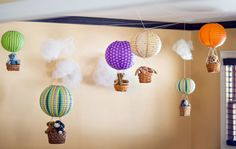Hot Air Balloon Birthday Party with DIY decorations