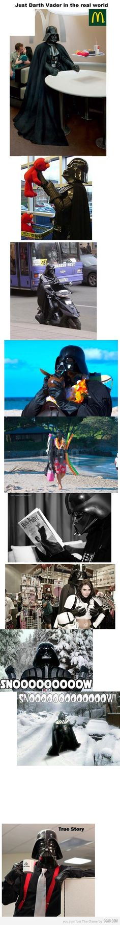 Darth Vader in the real world, LOL! @Anya Coleman lookie.