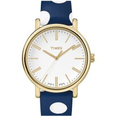 Women's Timex 'Classic' Dot Leather Strap Watch, 38Mm