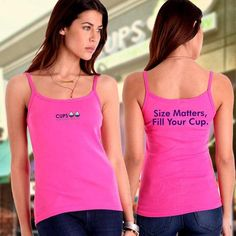 Bella Ladies Tank - Size Matters, Fill Your Cup