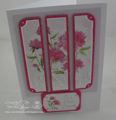 Pink Delight Craft: Kanban. Card made using Kanban So Feminine paper craft collection for female cards
