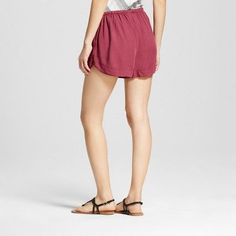 Women's Easy Casual Shorts - Mossimo Supply Co. Burgundy (Red) Xxl