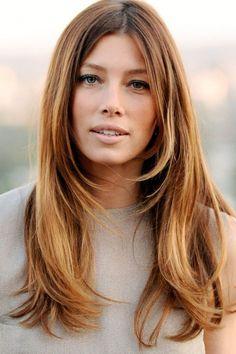 Jessica Biel long hair