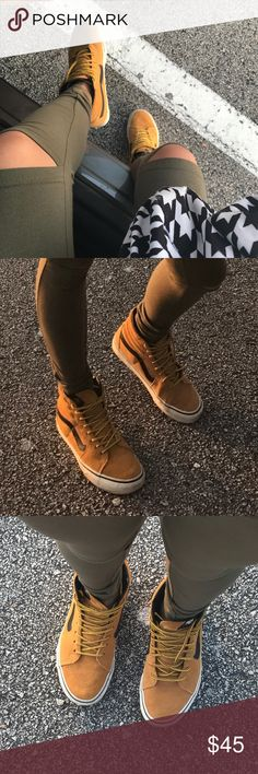 SK8-Hi MTE Vans Unisex Used high top vans that are gently used. Made out of Suede.  Size: 7.5 in US Womens  Size: 6.0 in US Mens. Vans Shoes Sneakers