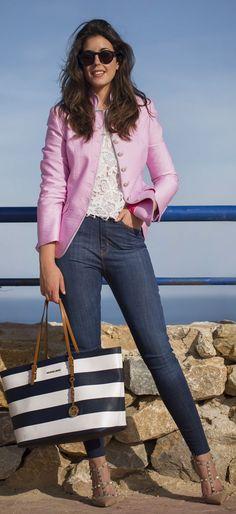 Pink Blazer Outfit Idea by 1sillaparamibolso