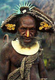 Huli man - Papau New Guinea