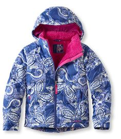 Girls' Bean's Fleece-Lined Down Jacket, Print: Jackets and Parkas | Free Shipping at L.L.Bean