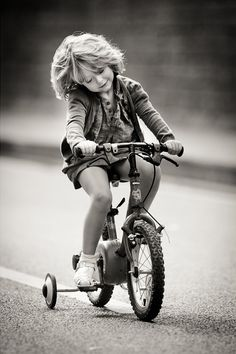 The little girl on the bike... Reminded me of when I was a little girl I used to ride my bike for hours every day