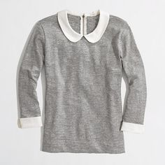 Heather gray peter pan collar tee