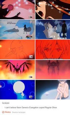 'I can't believe Neon Genesis Evangelion copied Regular Show'
