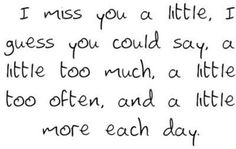 Quotes On Images » All Quotes On Images » I Miss You A Little