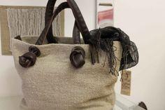 Handmade Linen handbag with leather handles by LaTessoria on Etsy, $270.00