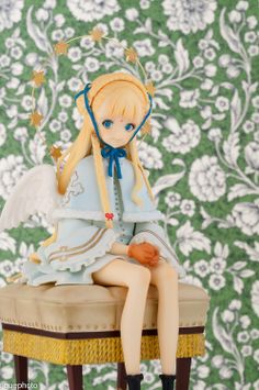 ☄★○ collectible anime figures ~ like 2D come to life ♥ anime girl. . .angel. . .halo. . .wings. . .pretty dress. . .gloves. . .cute. . .kawaii ○★☄