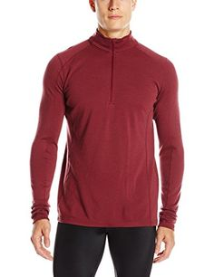 Ibex Outdoor Clothing Men's Woolies 2 Zip T-Neck Base Layer Top, Fire Brick, Small >>> Details can be found by clicking on the image.