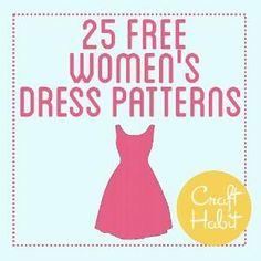 25 Free Women's Dress Patterns by Raelynn8